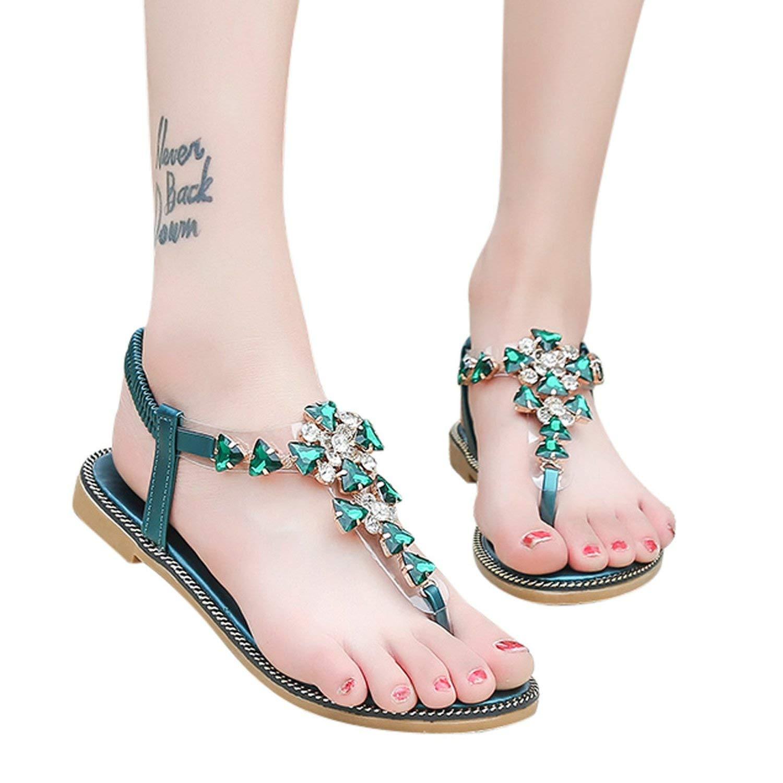 708c24873ee3ec Cool Cj Woman Sandals Flat Heel Sandals Rhinestones Shoes Gladiator Flat  Sandals Summer Open Toe Tenis
