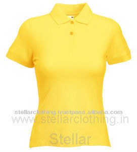 LADIES PLAIN POLO T-SHIRTS