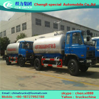 LPG Tanker Truck gas storage transporting truck 8000~15000L 8*4 driven system.