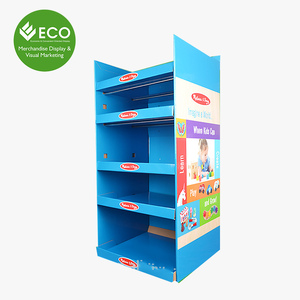 Five Tires Hot Sale Pop Cardboard Display Rack For Toys For Kids