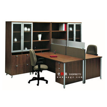 Modern T Shape Office Furniture Executive Desk For Two Person