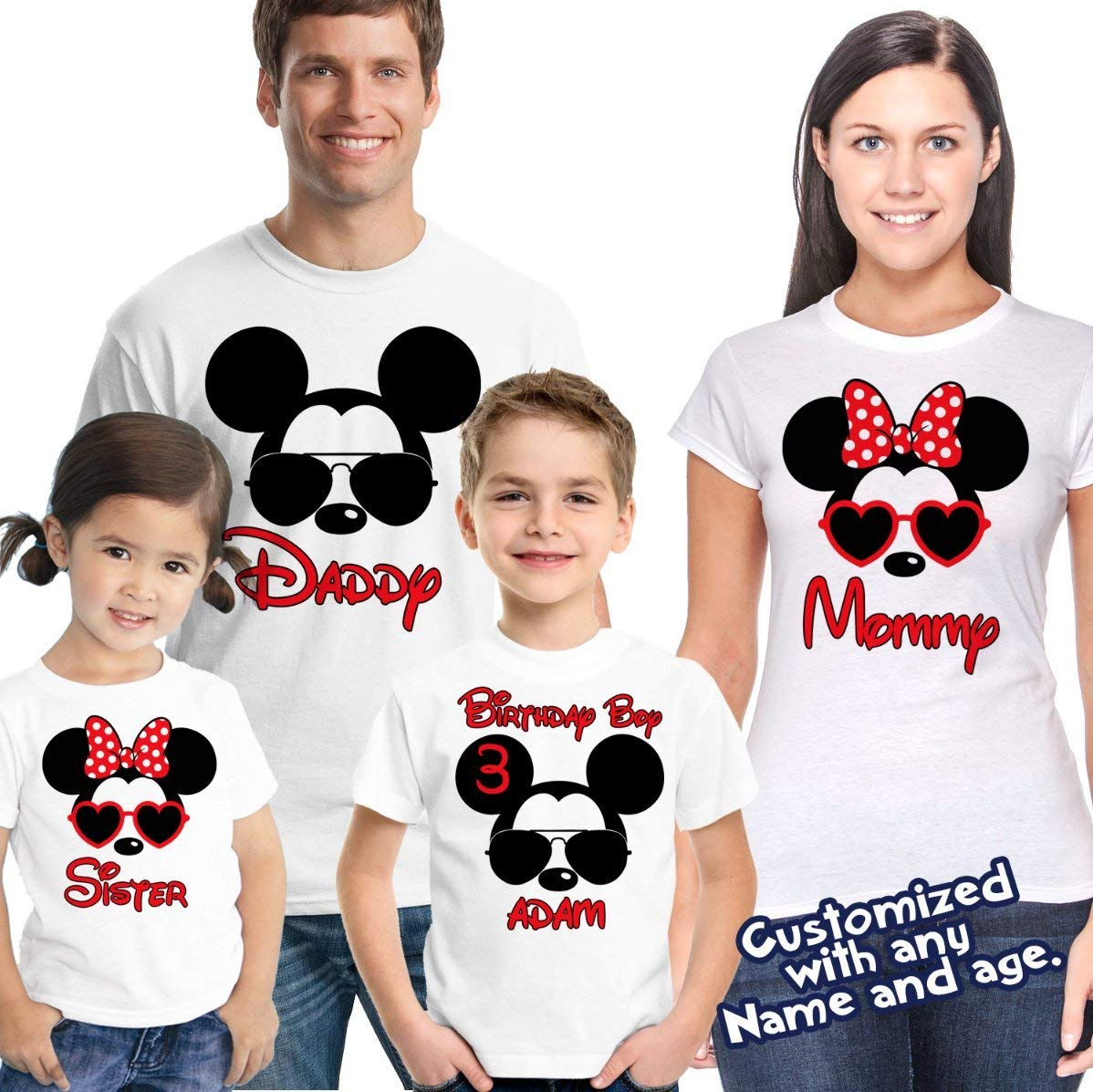 Get Quotations Mickey And Minnie Sunglasses Shirt Mouse Birthday