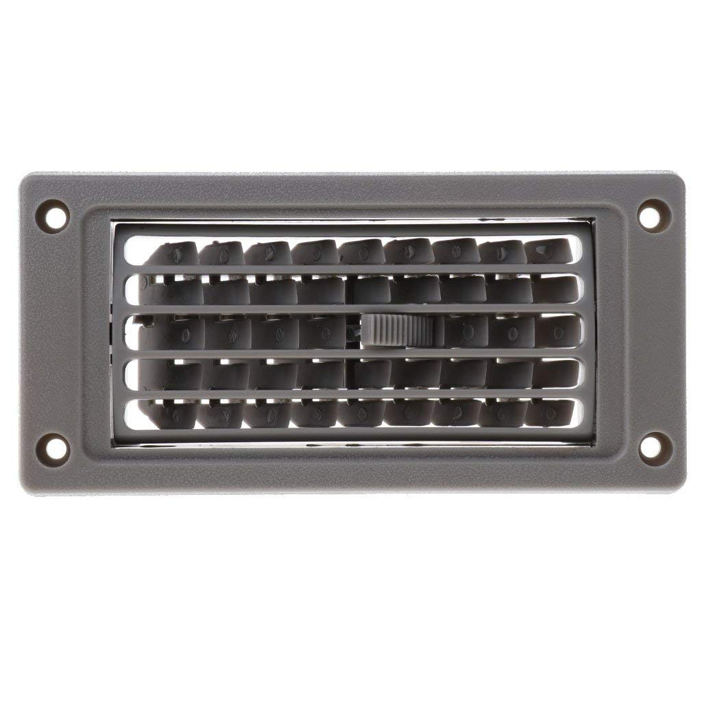 MagiDeal Car Marine RV Boat AC Air Conditioner Linear Vent Grille Cover Ducted Gray Beige - Gray