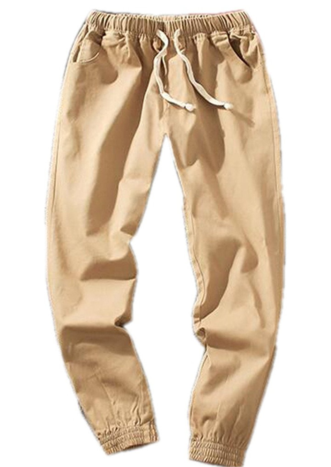 62c18ca2b0fd5 Get Quotations · Cafuny Mens Casual Skinny Solid Color Harem Pants Cargo  Joggers Pants