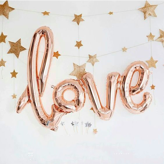 Wholesale hot wedding party room decorated letter balloons rose gold foil balloons