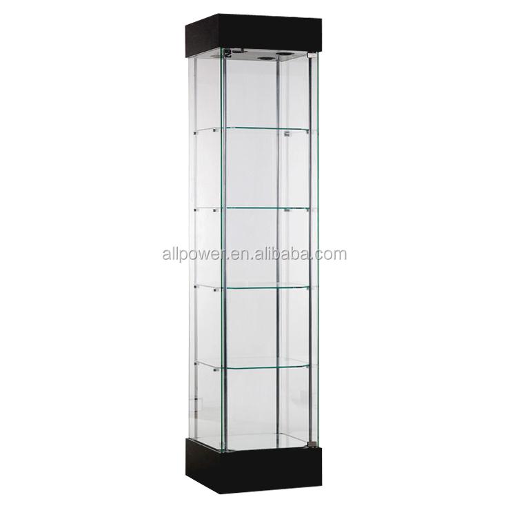 De Pie Sin Marco Gabinete Torre Mostrador De Cristal Vertical ...