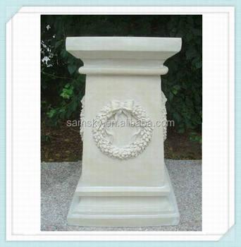 Fiberglass decorative wedding pillars columns for sale for Fiberglass square columns