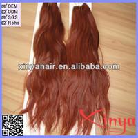 Thick end 5A Tangle free Color 33 Dark auburn hair weave Virgin Brazilian hair extension
