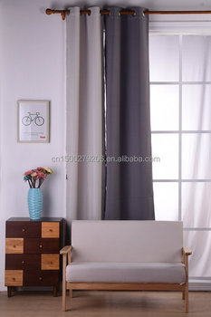 China Gold Supplier Simple Design Hot Sale Blackout Curtain With Magnetic  Strip