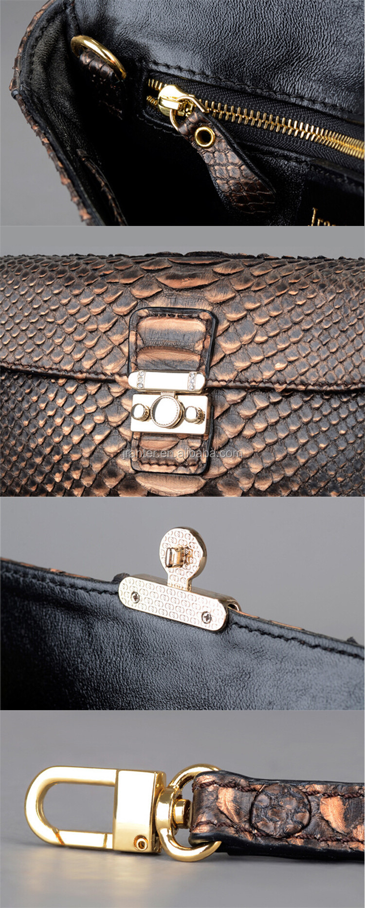 new fashion python snake skin women's clutch bag real leather clutch bag 2015