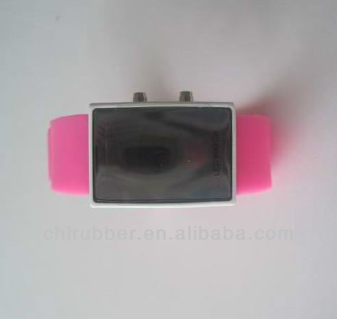 silicone rubber band jelly watch jelly