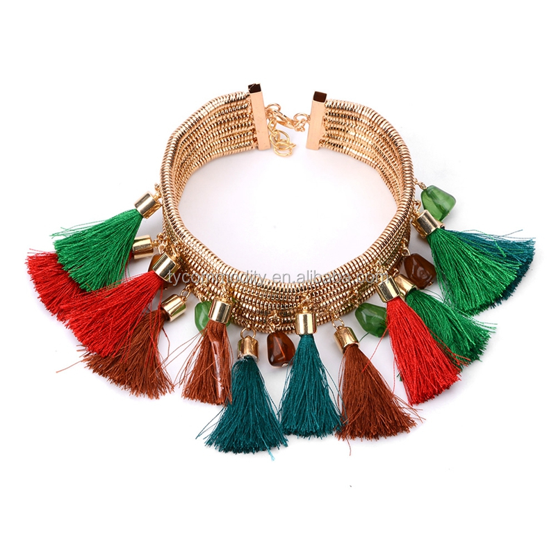 2017 india wide choker rose gold chunky statement necklace