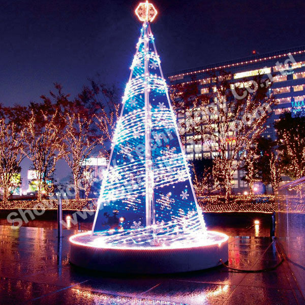 Self Snowing Artificial Christmas Tree Led Lighting Trees With ...