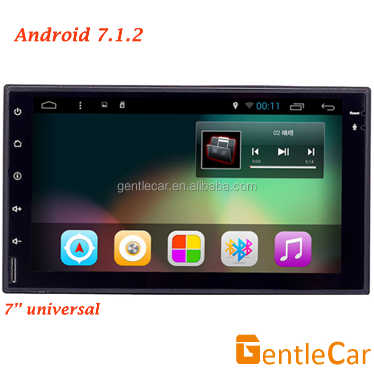 Hot sale 2 din 7 inch car universal full touch screen android 7.1 wifi GPS DVD player