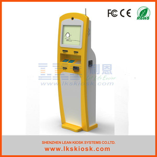 bill payment machine with card reader