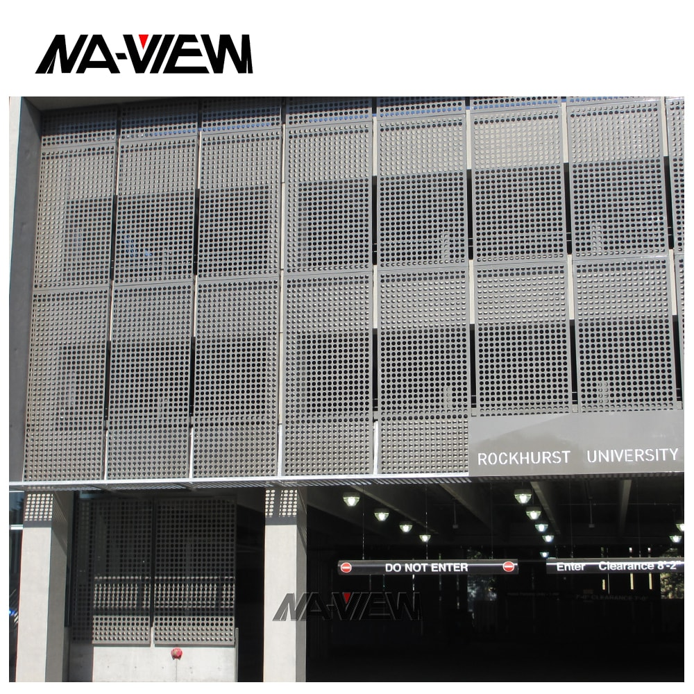 perforated aluminium corrugated punched metal sheets