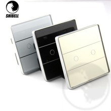 SHIBELL 2 gang 1 way Touch Remote Wall wifi Light Switch