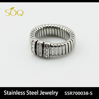 Unique Design Stainless Steel Engagement Ring For Holy Love