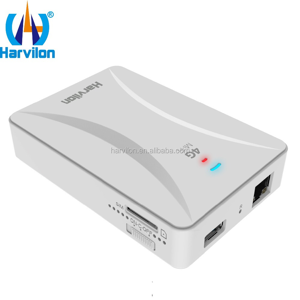 Portable Power Bank 3G 4G WiFi Router with Sim Card Slot RJ45 LAN Support WCDMA /EVDO /HSPA/CDMA