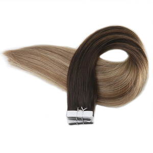 Unprocessed seamless virgin human hair extensions remy tape hair large stock grade 12a virgin hair