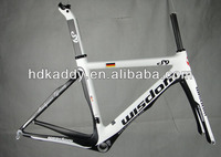 Back And White Painting Carbon Road Bike Frame Road Bicycle Frame