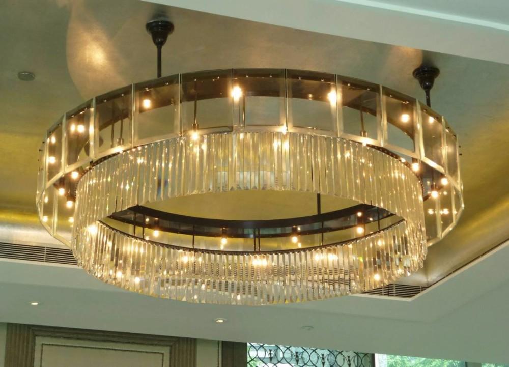 Modern Indoor Flush Mount Crystal Ceiling Light Fixture For Dining ...