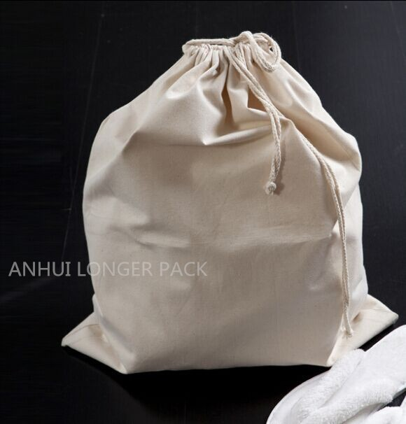 Heavy duty canvas drawstring laundry bag storage bag