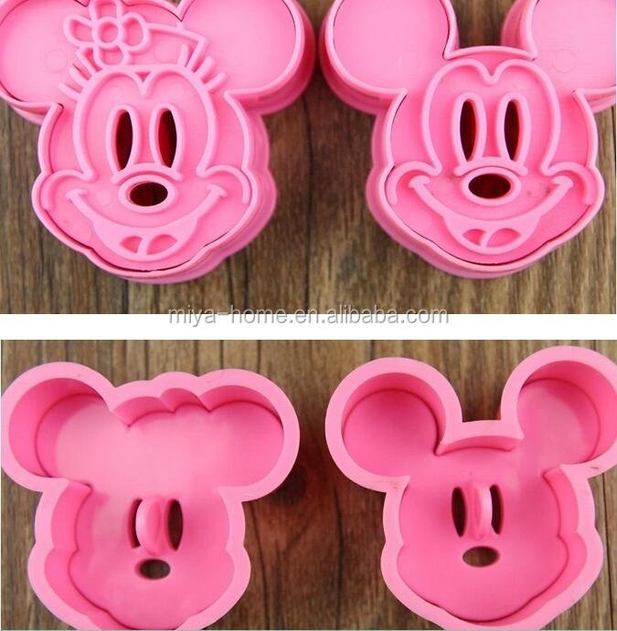 Cartoon Design Hand Press Cake Cookie Mold Festival DIY Decoration Baking Tool