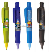 Pen plastic fat 4c logo heat transfer Kunststoff Kugelschreiber cartoon SA8000 Sedex factory audit