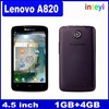"Hot Lenovo Mobile Lenovo A820 MTK6589 Quad Core 4.5"" Android RAM/ROM 1GB/4GB China Lenovo phone"