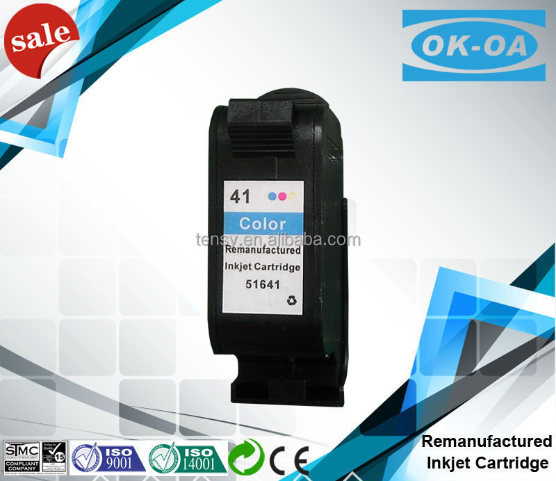 Hot sale product !Remanufactured inkjet cartridge for HP41 51641A with good quality