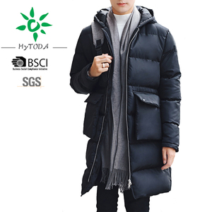 Mens Thick Quilted Puffer Jacket Hooded Cotton Padded Jacket Winter Outerwear Parka