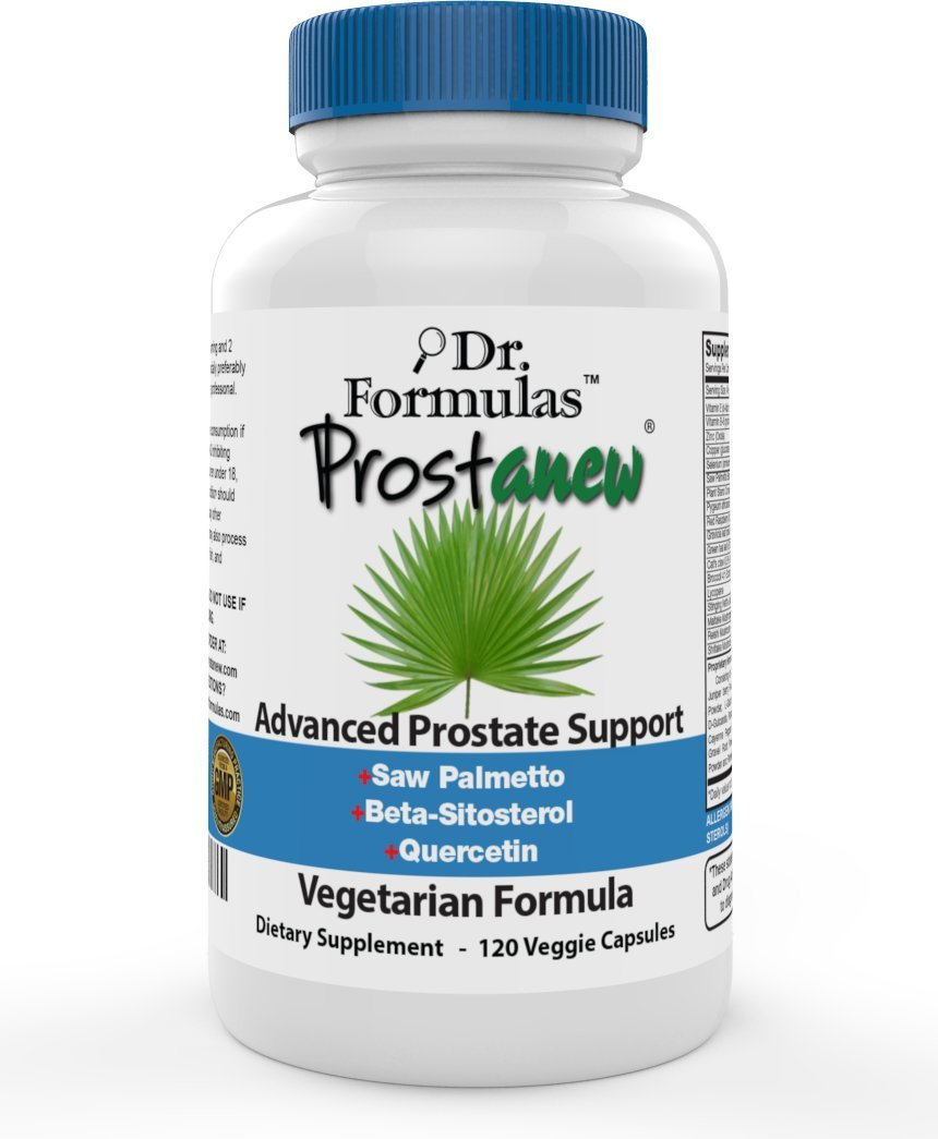 DrFormulas Prostate Supplements for Men Health Support | Best Supplement Complex with Saw Palmetto Extract, Beta Sitosterol, Pumpkin Seed Oil Now, 1 Month Vegetarian Capsules
