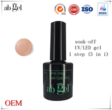 2017 factory professional wholesale high quality one step glue nail polish gel