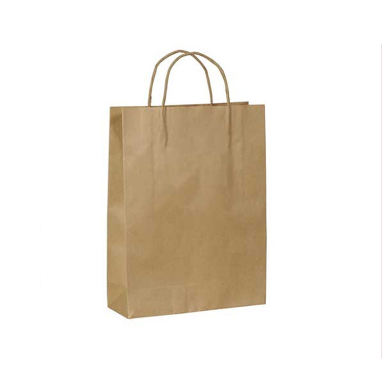 Chinese supplier customize simple cheap brown kraft paper bag