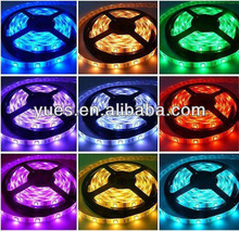 Irrigating Glue PC+PU material 7.6W/M SMD 2835 led strip light RGB/R/G/B/Y/W colour DC12V CE/ROHS