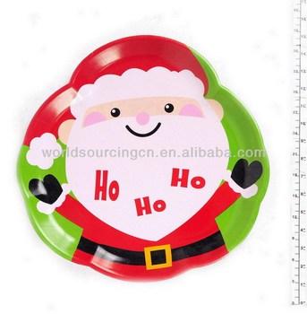 christmas melamine plates
