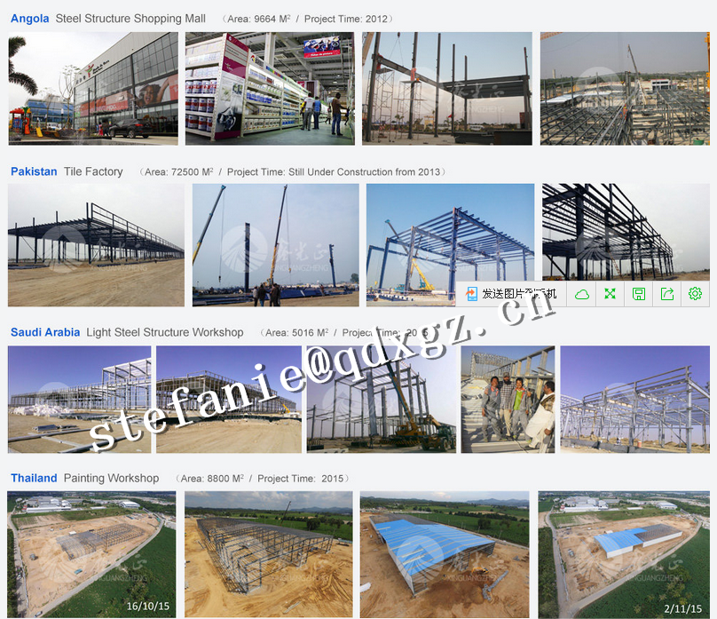 two storey steel structure warehouse