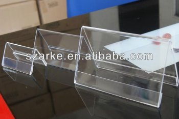 Sides Triangle Acrylic Menu Holders Reserved Sign Table Tent - Acrylic menu table tent holders