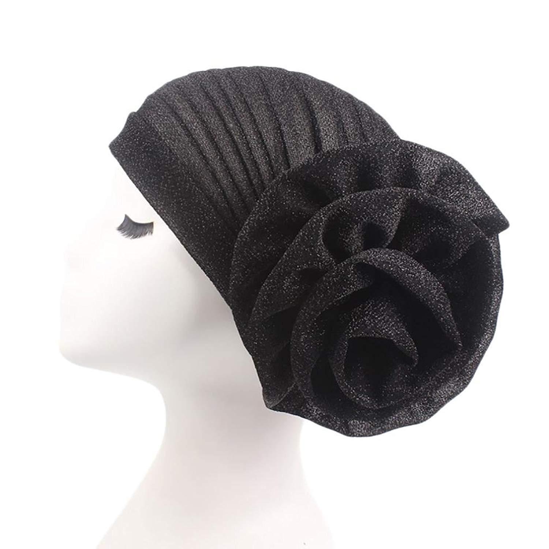 a0c3f59f8e1 Get Quotations · QingFan Women s Muslim Floral Elastic Scarf Hat Stretch  Turban Head Scarves Headwear Bandana for Cancer Chemo