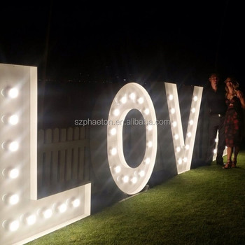 Romantic led light letters large for wedding
