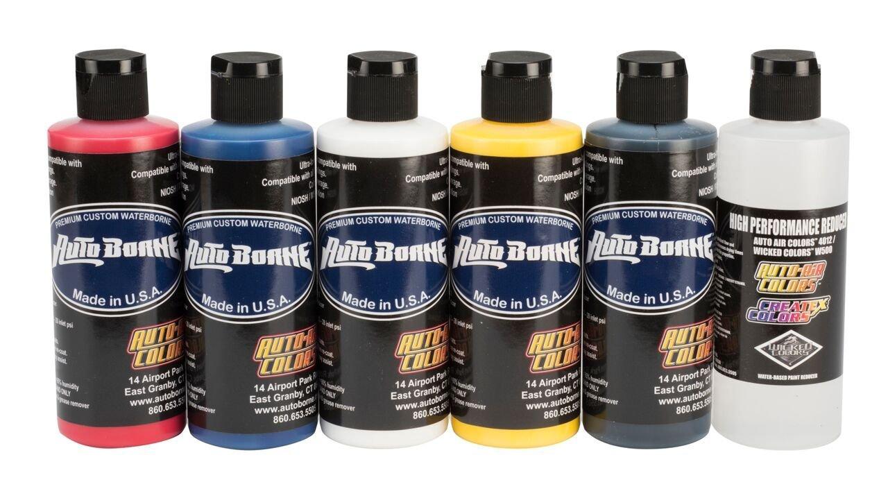 Auto Air Colors AutoBorne Sealer Primary Set, 4 oz