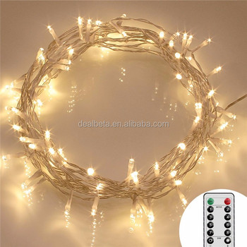 Led Fairy Light Battery Operated With Remote Dimmabletimer8 Modes Warm White Buy Battery Operated Led Fairy Lightswaterproof Battery Powered