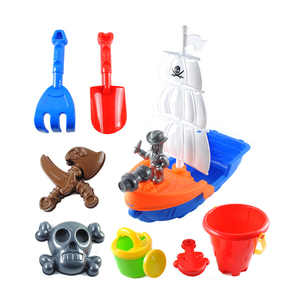 Shantou 11pcs beach sand play toys plastic pirate for kids