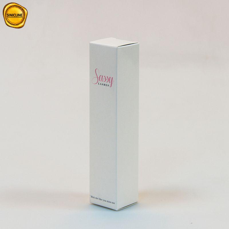 Sinicline कस्टम सफेद कागज lashes पैकेजिंग मिंक lashes बॉक्स
