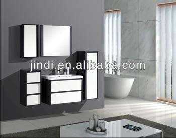 Kast Badkamer Schilderen : Mdf wit en zwarte hoge glanzende schilderen combinatie kast