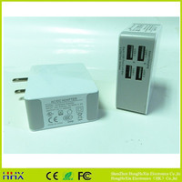 High quality multi port travel charger , mobile phone accessories micro usb charger 4 ports
