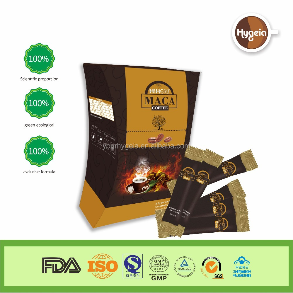 Manufacturer Natural herbal ingredient increase energy and endurance private label Maca Coffee