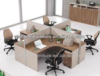 Stilvolle b ro schreibtisch f r 4 personen workstation for Schreibtisch 4 personen