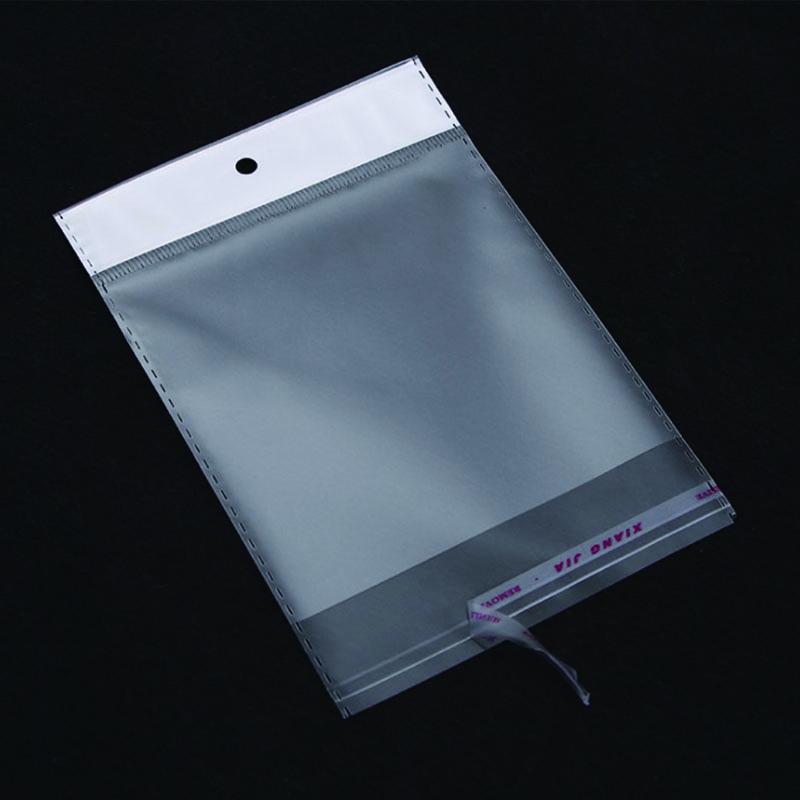 Clear self adhesive printed plastic package opp header bag